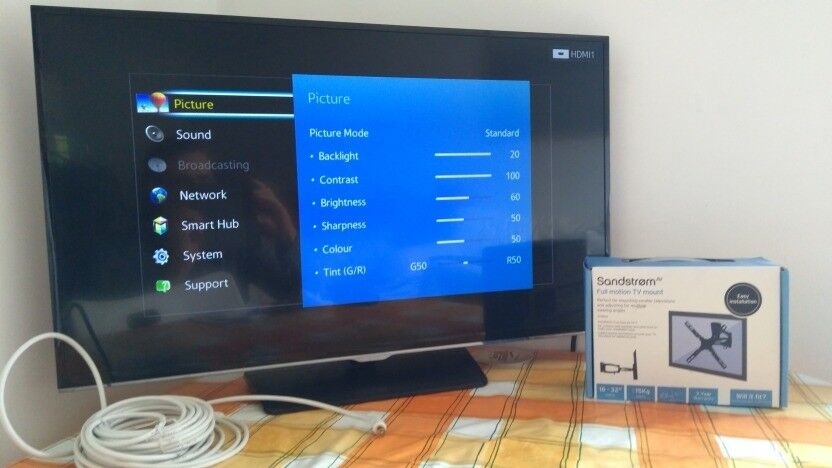 Samsung 32 Inch Full Hd 1080p Led Smart Tv Wall Mount In