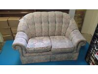 Two seat sofa and two matching armchairs