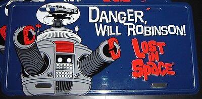 Lost in Space B9 Robot License Plate Irwin Allen - Danger Will Robinson! NEW b-9