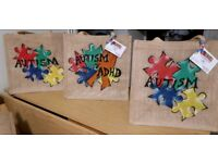 Personalized hassian jute bags and book bags