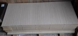 10 Pieces of New 18mm Light Oak Veneered Furniture Grade MDF 48in x 20in (1220mm x 510mm)