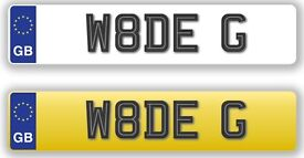 WADE G. private number plate W8DE G