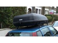 Car Roof Box complete with Fitting brackets and Keys, Large Size Ideal for Luggage, Moving, Removals