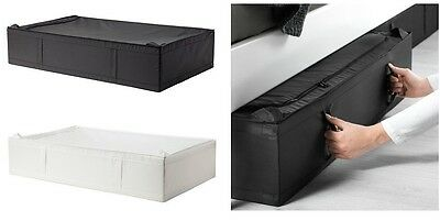 - IKEA SKUBB MultiUse Large Size Under Bed Storage Case Box,grey,White,93x55x19cm