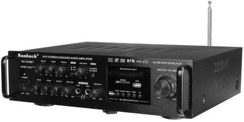 Sunbuck Setero 2000W 4ohm Bluetooth Fm Karaoke Amplifier RC Support TAV-6188BT
