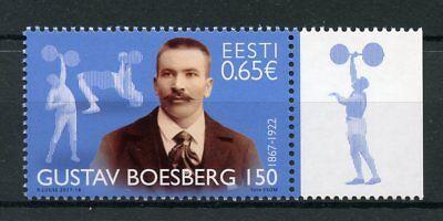 Estonia 2017 MNH Gustav Boesberg Founder Heavy Athletics 1v Set Sports Stamps
