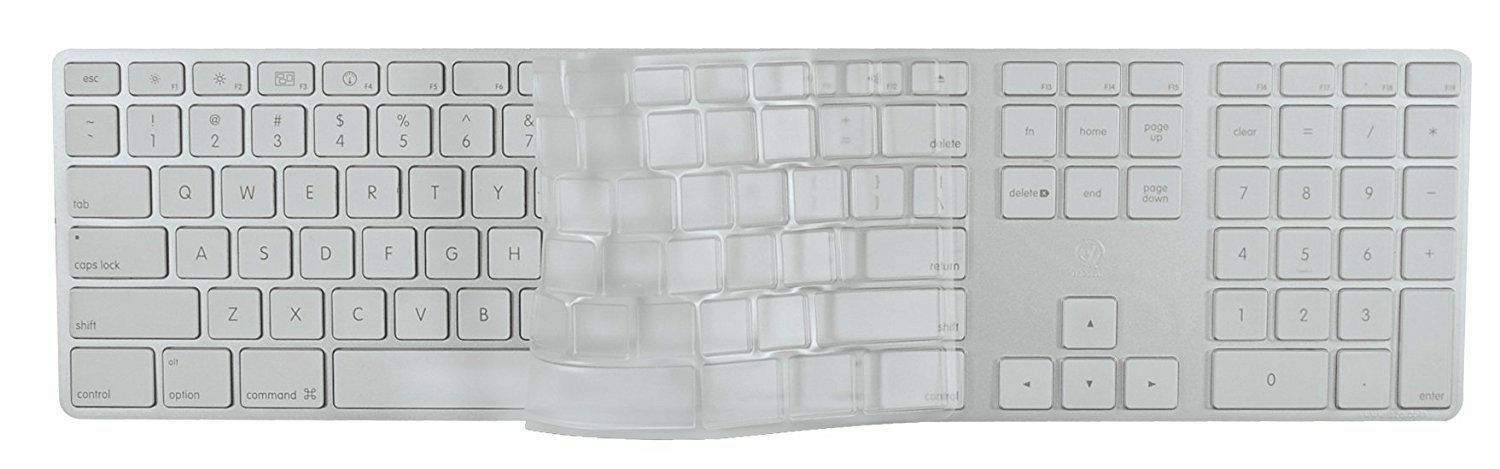 EZQuest Invisible Keyboard Cover for Apple Wired Keyboard wi