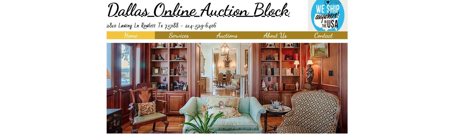 Dallas Online Auction Block