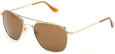 Randolph Aviator Men's Sunglasses 23K Gold w/ Tan Mineral Glass Polarized Lens (Randolph Aviator Glasses)