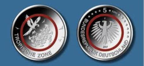 5 Euro Münze Mit Polymerring Tropische Zone 2017 In Niedersachsen