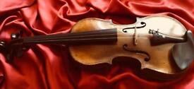 Antique HOPF 4/4 Violin all ready to play.