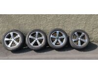 Audi 17 Inch Alloys Wheels Tyres 225/50/17 Good Condition 5x112 PCD Volkswagen