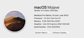 Macbook Pro Late 2012