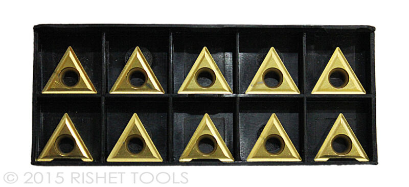 RISHET TOOLS TT 321 C5 Multi Layer TiN Coated Carbide Inserts (10 PCS)