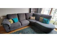 Grey Corner Sofa - Good Condition (5/6 Seats)