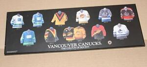 Vancouver Canucks Jerseys plaque