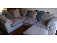 3 Piece Suite Including Corner Sofa, Swivel Chair & Footrest