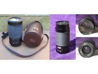 Carl Zeiss Jenazoom II Macro MC 70-300mm F4.5-5.8 Zoom Lens and leather carrying case