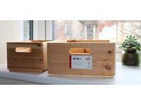 4 Zeller Multi-Purpose Boxes, Wood, Multi-Colour, Top Condition