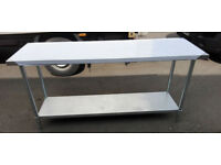 Brand New Tables Stainless Steel Wall Bench - 188cm