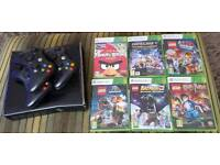 XBOX 360 + 3 Controllers &6 games