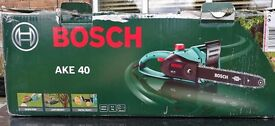 chainsaw, Bosch AKE 40, 40 cm cut, 1800 watt.