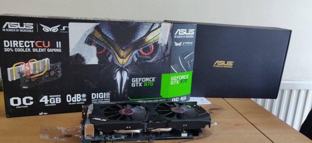 Nvidia Geforce GTX 970 - ASUS Strix 4GB graphics card   in Peterborough,  Cambridgeshire   Gumtree