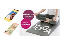 Personalised Custom Printed Yoga Mat and Design Tool Website