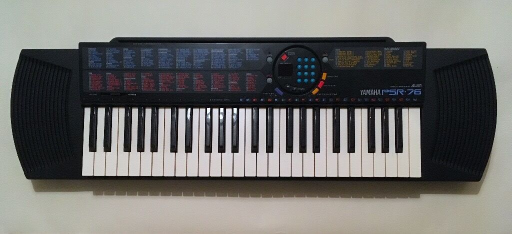 yamaha psr 76 advanced wave memory electronic keyboard. Black Bedroom Furniture Sets. Home Design Ideas