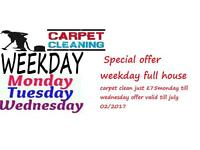 Special Weekday Offer, Full House Carpet Clean £75 Monday to wednesday 1-2-3-4 bed houses