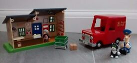 Postman Pat bundle. Van and Post Office. From a smoke free and pet free home
