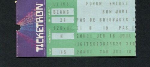 1986 Bon Jovi Concert Ticket Stub Canada Original and Rare  1979 The Knack Unuse