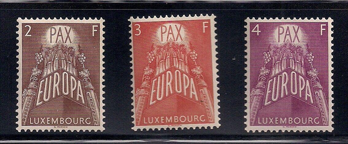 Luxembourg 1957 Sc 329-31 EUROPA VLH OG 41842  - $9.95