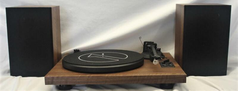OPEN BOX 1BYONE TURNTABLE HIFI SYSTEM WITH SPEAKERS AND BLUETOOTH PLEASE READ