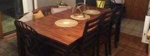 Wood Dining Set -- dining table, bench and chairs for sale!!!