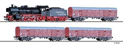 Tillig 01441 TT Güterzugset DR EP III mit Modellgleis NEUHEIT 2016 OVP-
