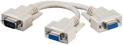 Monitor VGA SVGA Y Dual Splitter Cable Lead - SENT TODAY