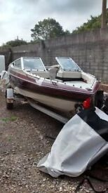 SPEED BOAT MAXUM 170 BOW RIDER SEATS 6 PEOPLE WITH 70HP OUTBOARD , BAYLINER SEARAY BOAT
