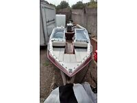 maxum 170XR bow rider speed boat outboard motor 70hp