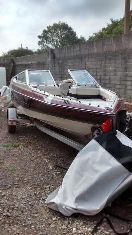 Speed boat maxum 170 bowrider seats 6 with 70hp outboard for Bowrider boats with outboard motors