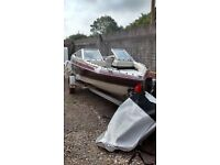 BOAT MAXUM SPEEDBOAT BOW RIDER WITH A 70HP OUTBOARD MOTOR , NOT BAYLINER SEA RAY