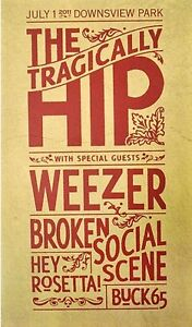> Tragically Hip Posters Wanted-1990's & 2015  TOP $$$$ Kingston Kingston Area image 9