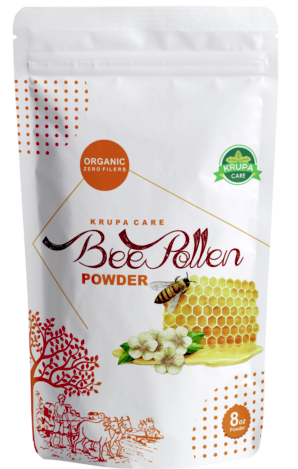 Krupacare  BEE POLLEN  POWDER Fresh Pure 100% Natural Raw Flower  1 lb