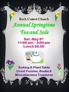 Spring tea and sale