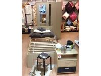 Double Wardrobe, Single Bed and Bedside Table - 3 Piece Set