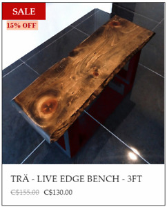 Live Edge Benches - FALL INVENTORY SALE!!