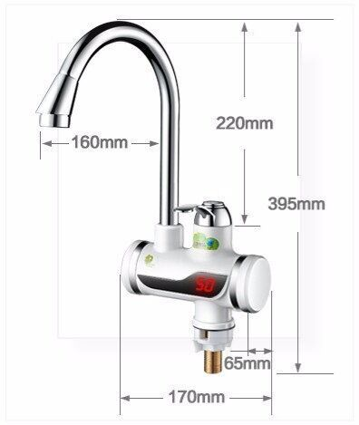 Brand New ATWFS Electric Instantaneous Water Heater Tap Instant Hot Water Faucet tap