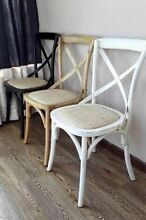NEW FRENCH PROVINCIAL HAMPTON'S STYLE BLACK WHITE CROSS X BACK CHAIRS! Casuarina Kwinana Area Preview
