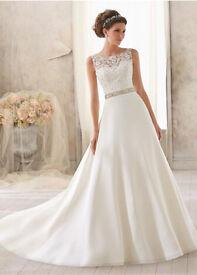 Mori Lee 5204 ivory wedding dress