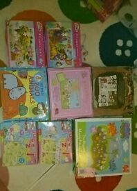 Kids jigsaw puzzle bundle of 8 Inc peppa pig etc